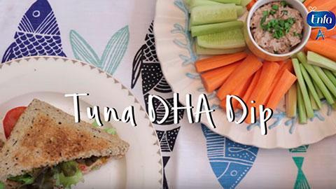 Tuna DHA Dip & Sandwich