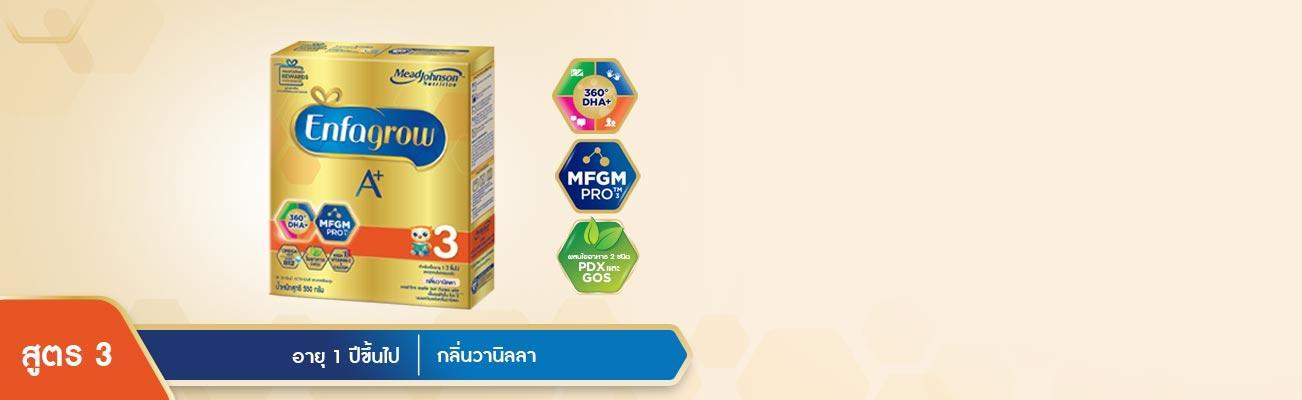 เอนฟาโกร เอพลัส MFGM Pro สูตร 3