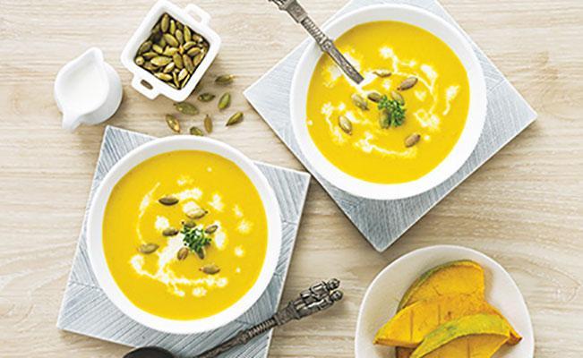 ซุปฟักทองย่าง